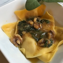 Butternut Squash with Sage & Walnut Butter Sauce